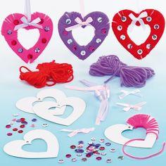 Heart Yarn Wreaths