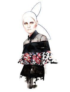 DELPOZO F/W 2015 fashion illustration by António Soares