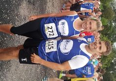 Amy and Chris before completing the Derby 10K