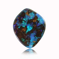 Blue, Green & Purple Solid Boulder Matrix Opal from Koroit, Queensland, Australia.