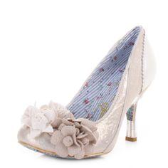 Irregular Choice Mrs Lower Shoes - Off White
