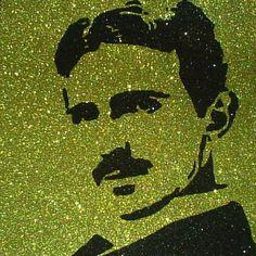 Nikola Tesla Steampunk Glitter Art Home Decor by GlitterMortis
