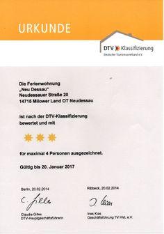 Ferienwohnung Neu Dessau *** Klassifizierung