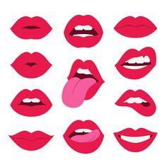 Find Red Lips Collection Vector Illustration Sexy stock images in HD and millions of other royalty-free stock photos, illustrations and vectors in the Shutterstock collection. Thousands of new, high-quality pictures added every day. Tattoo Mund, Open Mouth Drawing, Infinite Love Tattoo, Kiss Illustration, Lips Painting, Lip Logo, Lip Patch, Lip Biting, Different Emotions