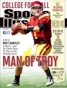 "USC Athletics' photo ""Congratulations Matt Barkley on making his first Sports…"""