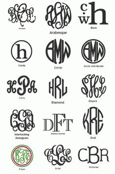 Love pretty monograms