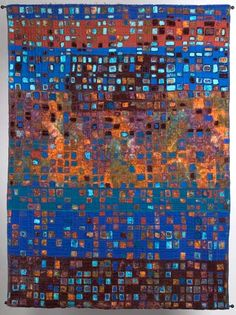 Fire and Water by Mary Stoudt. Art Quilt