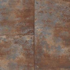 Bronze Wallpaper, Look Wallpaper, Tile Wallpaper, Industrial Wallpaper, Bedroom Wallpaper, Brown Bathroom Decor, Metal Panels, Metal Wall Panel, Rusted Metal