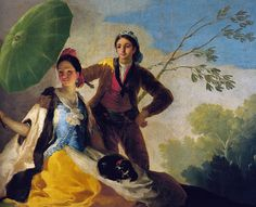 Francisco de Goya - The Parasol, 1777 at Prado Museum Madrid Spain