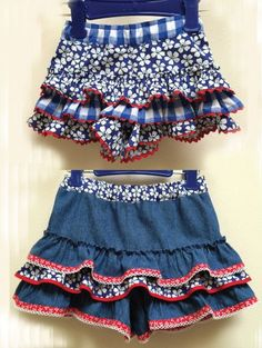 Girls frilly shorts sewing pattern SILLY FRILLY Shorts sizes 1-10 years