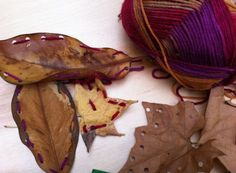 What you will need: Leaves, hole punch, child' plastic needles and yarn. This one of my favorite fall activities! Space Activities, Autumn Activities, Preschool Lessons, Preschool Activities, Fairy Dust Teaching, Reggio Classroom, Classroom Ideas, Toddler Teacher, Outdoor Baby