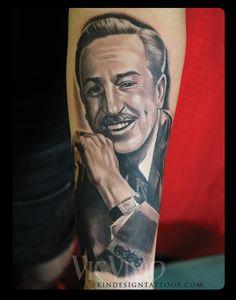 Gallery For > Walt Disney Portrait Tattoo Disney Tattoos, Walt Disney, Portrait, Gallery, Headshot Photography, Roof Rack, Portrait Paintings, Drawings, Portraits