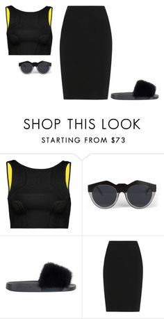 """""""Untitled #3975"""" by michelanna ❤ liked on Polyvore featuring Alexander Wang, Le Specs, Givenchy and Lanvin"""