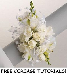 White Corsages - This site has galleries of wedding flowers, DIY florist supplies and free flower tutorials