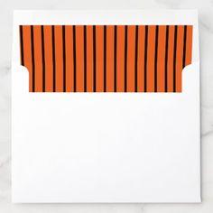 Envelope Liner with Orange and Black Stripes Halloween Cast, Halloween Snacks, Halloween Costumes, Envelope Box, Envelope Liners, Colored Envelopes, White Envelopes, Custom Envelopes, Black Stripes