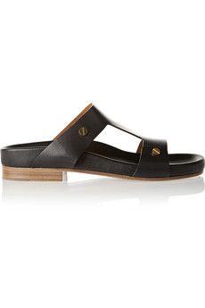 Chloé Studded leather sandals | NET-A-PORTER Black Sandals, Leather Sandals, Maria Black, Gucci Shoulder Bag, Black Bracelets, Black Necklace, Studded Leather, Chloe, Studs