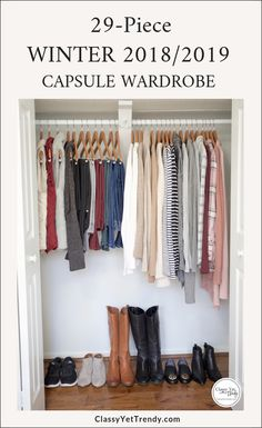 My Winter Capsule Wardrobe - Classy Yet Trendy See all the clothes in my Winter capsule wardrobe and find out where to buy all the pieces. Shoes shopping sources included too! Capsule Wardrobe 2018, Wardrobe Basics, Winter Wardrobe Essentials, Capsule Wardrobe How To Build A, Minimalist Wardrobe Essentials, Staple Wardrobe Pieces, Mom Wardrobe, Minimal Wardrobe, Simple Wardrobe