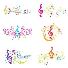 """Stickers """"graphic, modern, opera - set of colorful musical notes illustration - in vector"""" ✓ Easy Installation ✓ 365 Day Money Back Guarantee ✓ Browse other patterns from this collection! Music Tattoo Designs, Music Tattoos, Body Art Tattoos, Tatoos, Tatoo Musical, Tattoo Painting, Music Notes Art, Note Tattoo, Music Drawings"""