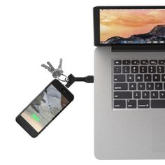 NomadKey is a key-shaped smartphone cable that fits onto your keychain. It works like your