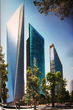 Punto Chapultepec and next neighbours: Torre Mayor and Torre Reforma - Mexico City