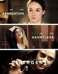 """""""I feel like someone breathed new air into my lungs. I am not abnegation. I am not dauntless. I am divergent. And I can't be controlled. Divergent Memes, Divergent Hunger Games, Divergent Fandom, Divergent Trilogy, Divergent Insurgent Allegiant, Insurgent Quotes, Divergent Series Movies, Divergent 2014, Tris Prior"""