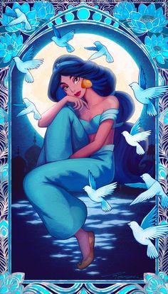 Jasmine with Doves . Disney Princess Pictures, Disney Princess Fashion, Disney Princess Drawings, Disney Princess Art, Disney Pictures, Disney Drawings, Princess Jasmine Art, Disney Films, Disney E Dreamworks