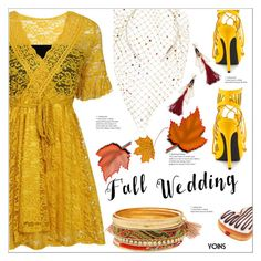 """""""Fall Wedding"""" by meyli-meyli ❤ liked on Polyvore featuring Piers Atkinson, Privileged, fallwedding, yoins, yoinscollection and loveyoins"""