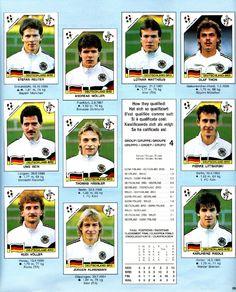 West Germany, Klinsmann and co :)  Panini World Cup 1990 - Italia