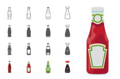 Bottles Icons Free PSD and Ai