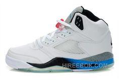 b2d998f6d1cdb Air Jordan 5 Retro White Blue Black Authentique, Price: $88.00 - Reebok  Shoes,Reebok Classic,Reebok Mens Shoes
