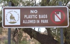 """The Government Gazette No. 6285 of April 2017 amended the regulations of the Nature Conservation Ordinance of 1975 with the insertion of a new provision that no person shall enter a game park or nature reserve with a plastic bag"""", Itsu, No Plastic, Nature Reserve, Conservation, Tourism, Game, Turismo, Venison, Games"""