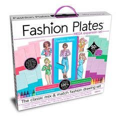 Fashion Plates Mega Kit and thousands more of the very best toys at Fat Brain Toys. Create unlimited combinations with the 4-in-1 Fashion Plates® Mega Set! Sports, Glamour, Campus and Weekend Collections all come together in this 50+ piece boxed set. It's the ultimate kit for aspiring designers to create fun and unique fashions—the possibilities are endless!
