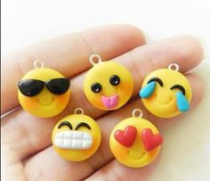 Emoji clay charms