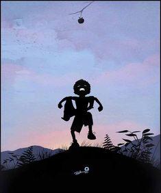 Ultra-Creative Super Hero Kid Silhouettes - Gallery