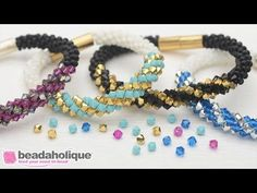 Videos: How to Make the Deluxe Beaded Kumihimo Bracelet Kit with Spiral Bicone Focal | Beadaholique