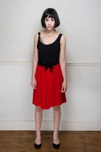 Vintage red pleated skirt - Skirts - Womens Vintage | Retro & Vintage Clothes UK