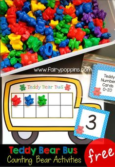 Free counting bear ten frame activities ~ Fairy Poppins