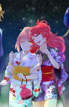 Nanami Haruka & Shibuya Tomochika - Uta no Prince Sama,Anime Anime Kimono, Manga Anime, Anime Art, I Love Anime, Awesome Anime, Vocaloid, Samurai, Kaichou Wa Maid Sama, Uta No Prince Sama
