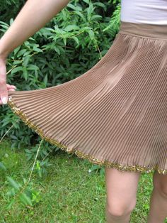 Vintage 60s Sheer Brown Pleated Costume Skirt by BeatificVintage, $25.00