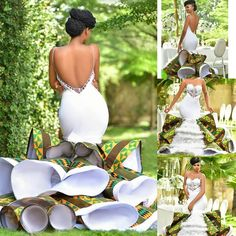 Custom Made Plus Size Bridal Gowns For 2019 traditionalwedding traditional wedding outfits African Prom Dresses, African Fashion Dresses, African Dress, African Style, African Wedding Attire, African Attire, African Wedding Theme, African Weddings, African Traditional Wedding Dress