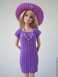 Clothes for Barbie doll / Одежда для кукол ручной работы. Ярмарка Мастеров - ручная работа. Купить Комплект одежды для Барби. Handmade. Тёмно-фиолетовый, barbie