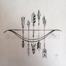 Image result for bow and arrow tattoo