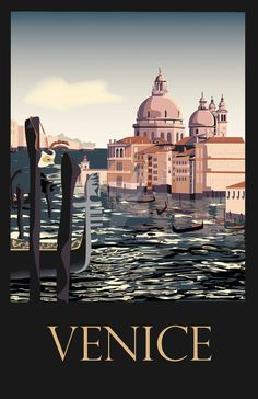 Travel Poster Venice by SydneyJoy