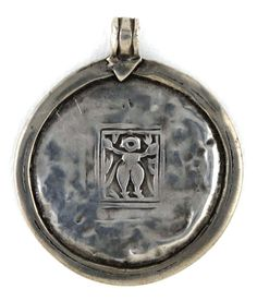 Antique 19th Century Lord Shiva with Trishula, Amulet, India, 10.6 Grams