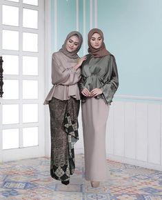 Ideas For Party Outfit Simple Blouses Muslim Fashion, Hijab Fashion, Fashion Muslimah, 50 Fashion, Fashion Styles, Batik Dress, Lace Dress, Hijab Dress Party, Kebaya Dress