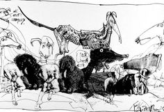 Ralph Steadman dogs