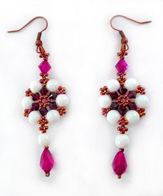 Free pattern for earrings Adriana - Beads Magic