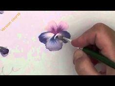 Peinture décorative : pensées violettes