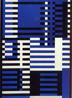 Josef Albers, Upward, 1926. He experimented with sandblasted flash glass. Bahaus textile.