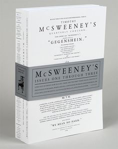 I really like the McSweeney's brand. The literary fonts and the dictionary-style illustrations.